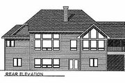 Traditional Style House Plan - 3 Beds 2.5 Baths 3665 Sq/Ft Plan #70-292 Exterior - Rear Elevation