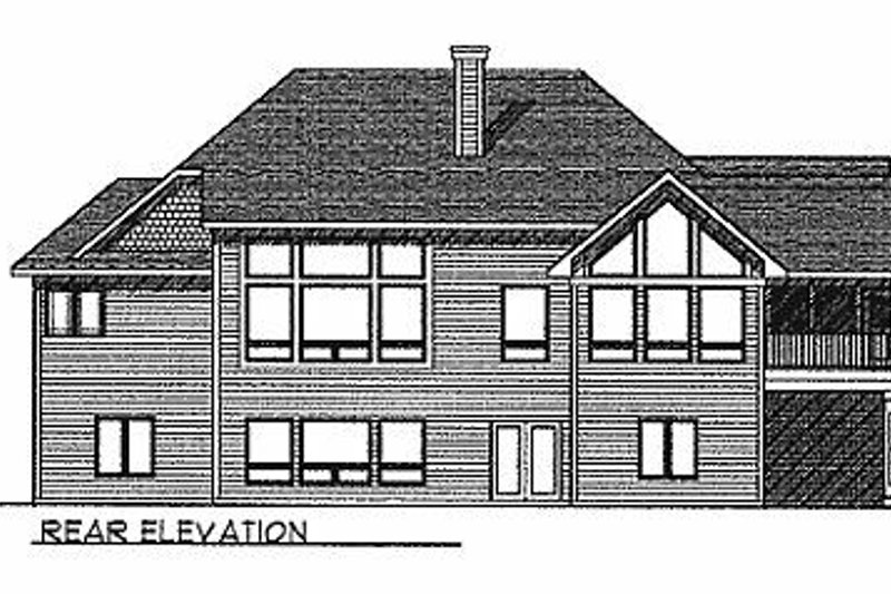 Traditional Exterior - Rear Elevation Plan #70-292 - Houseplans.com