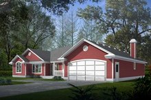 Traditional Exterior - Front Elevation Plan #94-105
