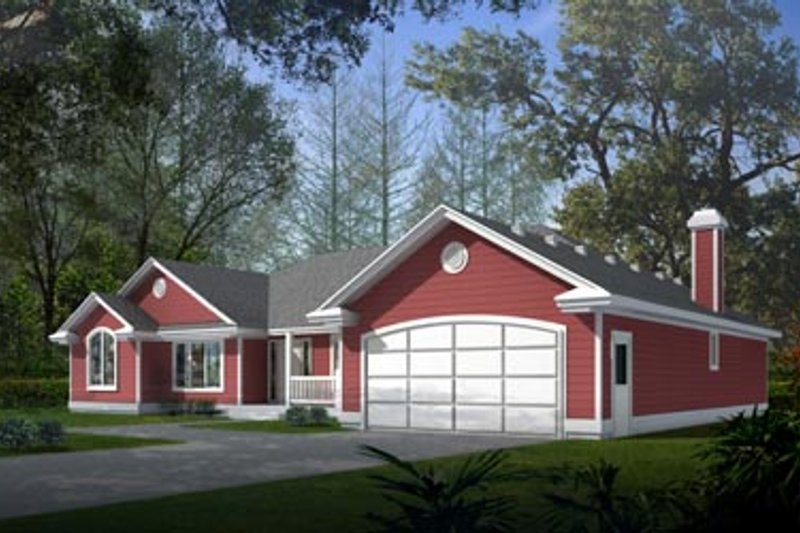 Traditional Exterior - Front Elevation Plan #94-105 - Houseplans.com