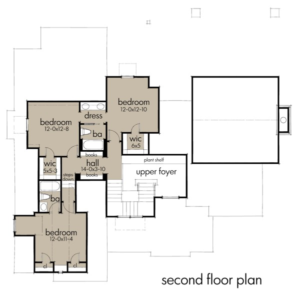 Farmhouse Floor Plan - Upper Floor Plan #120-258