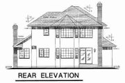 Traditional Style House Plan - 3 Beds 2.5 Baths 2152 Sq/Ft Plan #18-8950 Exterior - Rear Elevation