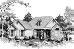 Home Plan - Traditional Exterior - Front Elevation Plan #10-104