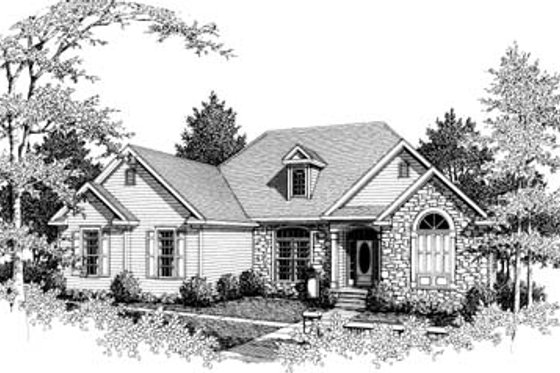 Traditional Exterior - Front Elevation Plan #10-104