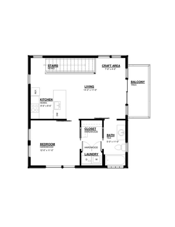 Modern Floor Plan - Upper Floor Plan Plan #895-112
