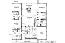 Craftsman Floor Plan - Main Floor Plan Plan #1073-18