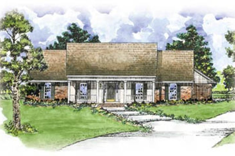 Architectural House Design - Southern Exterior - Front Elevation Plan #36-171