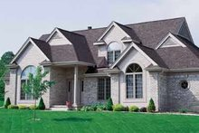 House Blueprint - Traditional Exterior - Front Elevation Plan #72-379
