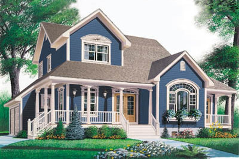 Dream House Plan - Farmhouse Exterior - Front Elevation Plan #23-2062