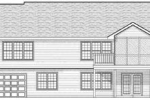 Ranch Exterior - Rear Elevation Plan #70-581