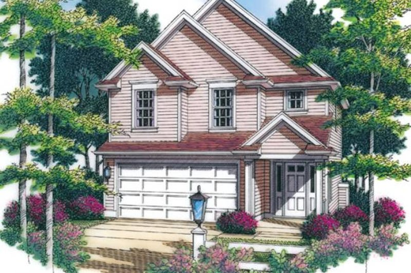 Traditional Exterior - Front Elevation Plan #48-516