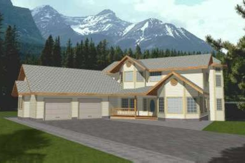 Modern Exterior - Front Elevation Plan #117-442 - Houseplans.com
