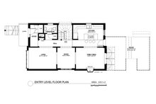 Contemporary Floor Plan - Main Floor Plan Plan #535-26
