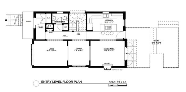 Contemporary Floor Plan - Main Floor Plan Plan #535-26