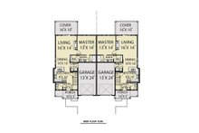Craftsman Floor Plan - Main Floor Plan Plan #1070-95