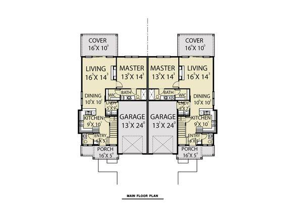Craftsman Floor Plan - Main Floor Plan #1070-95