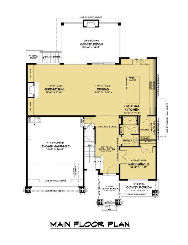 Contemporary Floor Plan - Main Floor Plan #1066-130