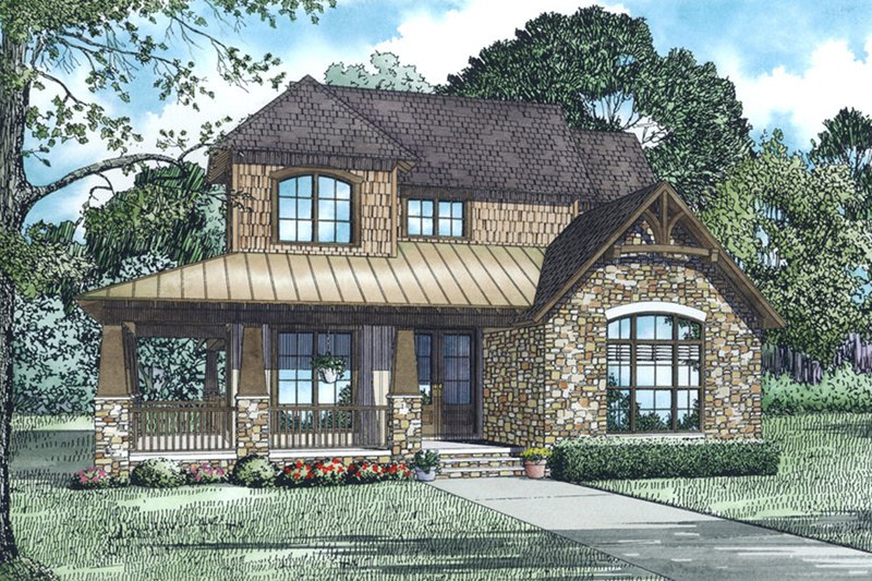 Country Style House Plan - 3 Beds 2.5 Baths 3041 Sq/Ft Plan #17-2533 Exterior - Front Elevation