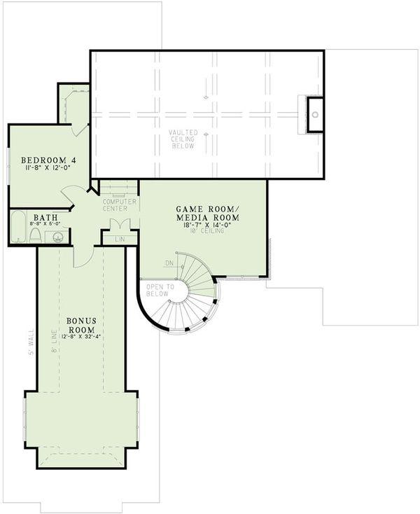 European Floor Plan - Upper Floor Plan Plan #17-2499
