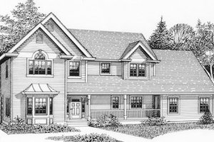 Country Exterior - Front Elevation Plan #53-267