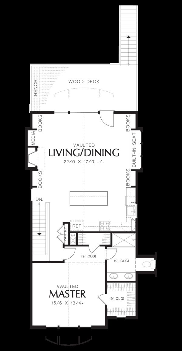 Craftsman Floor Plan - Upper Floor Plan Plan #48-573