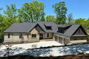 Craftsman Style House Plan - 4 Beds 3.5 Baths 4147 Sq/Ft Plan #437-115 Exterior - Front Elevation