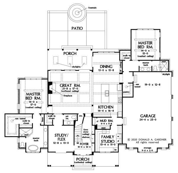 Dream House Plan - Farmhouse Floor Plan - Main Floor Plan #929-1113