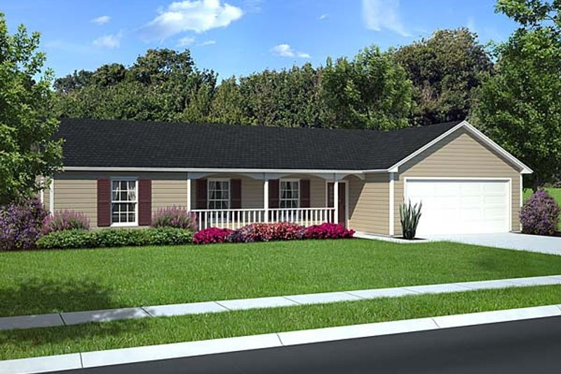 Ranch Style House Plan - 3 Beds 2 Baths 1631 Sq/Ft Plan #312-195