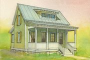 Cottage Style House Plan - 2 Beds 1 Baths 697 Sq/Ft Plan #514-10 Photo