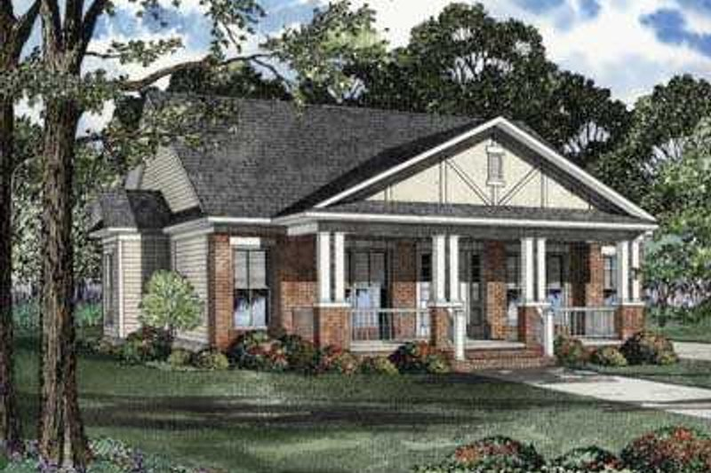 House Plan Design - Southern Exterior - Front Elevation Plan #17-436