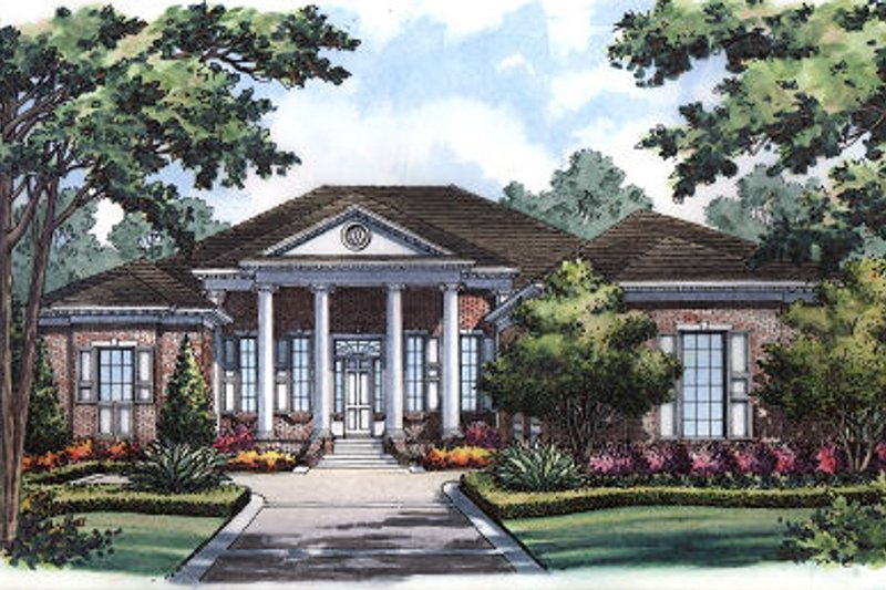 Classical Exterior - Front Elevation Plan #417-368