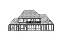 European Exterior - Rear Elevation Plan #84-412