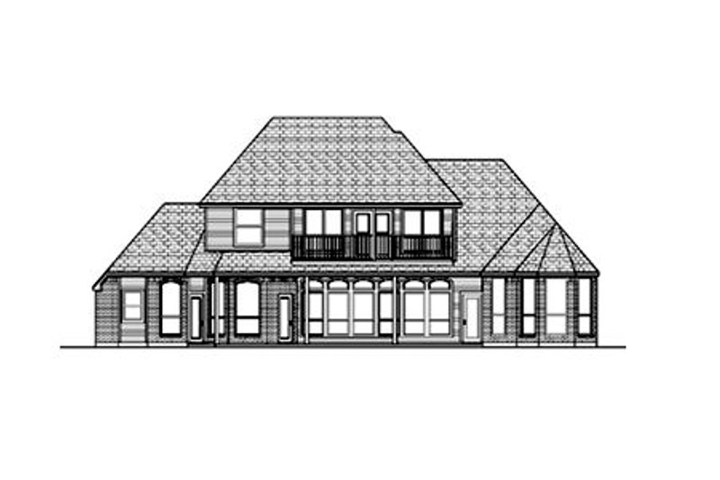 European Exterior - Rear Elevation Plan #84-412 - Houseplans.com