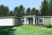 Mediterranean Style House Plan - 4 Beds 3 Baths 1892 Sq/Ft Plan #1-744 Exterior - Front Elevation