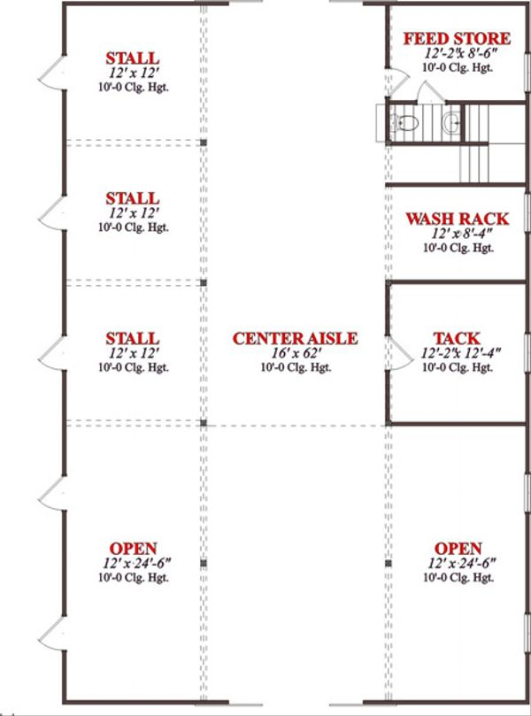 Country Floor Plan - Main Floor Plan Plan #63-332