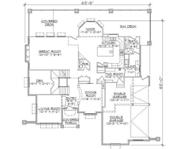 European Floor Plan - Main Floor Plan Plan #5-402