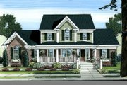 Country Style House Plan - 4 Beds 2.5 Baths 2326 Sq/Ft Plan #46-440 Exterior - Front Elevation