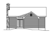 Cottage Exterior - Rear Elevation Plan #22-565