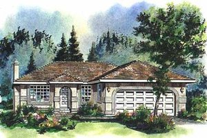 Ranch Exterior - Front Elevation Plan #18-125