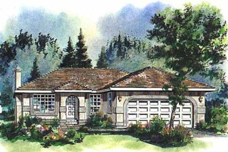 House Blueprint - Ranch Exterior - Front Elevation Plan #18-125