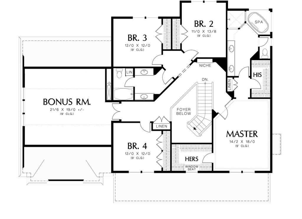 Country style house plan 4 beds 2 5 baths 3088 sq ft for Www floorplans com