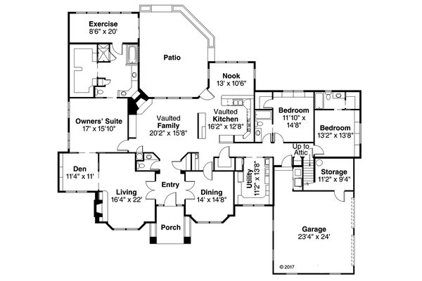 Traditional Floor Plan - Main Floor Plan Plan #124-258