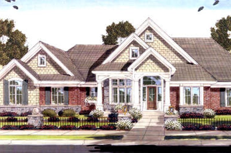 Traditional Exterior - Front Elevation Plan #46-418