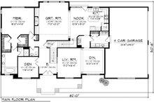 Traditional Floor Plan - Main Floor Plan Plan #70-1127