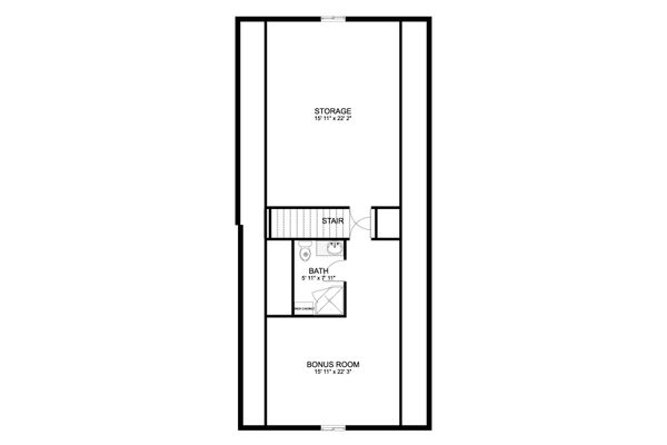 Traditional Floor Plan - Upper Floor Plan #1060-59