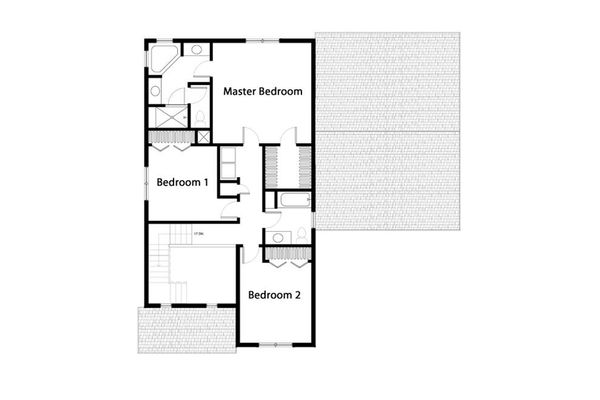 Traditional Floor Plan - Upper Floor Plan Plan #497-43