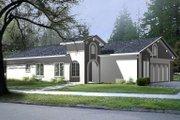 Adobe / Southwestern Style House Plan - 3 Beds 2 Baths 1189 Sq/Ft Plan #1-198