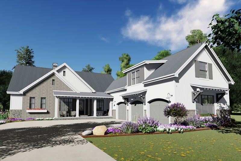 Home Plan - Farmhouse Exterior - Front Elevation Plan #1069-18