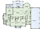 European Style House Plan - 4 Beds 4 Baths 5854 Sq/Ft Plan #17-2381 Floor Plan - Main Floor Plan