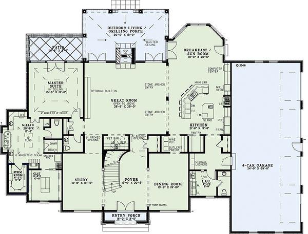 European Floor Plan - Main Floor Plan Plan #17-2381